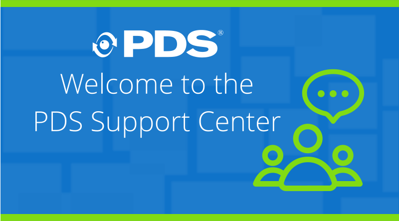 Welcome To the PDS Support Center